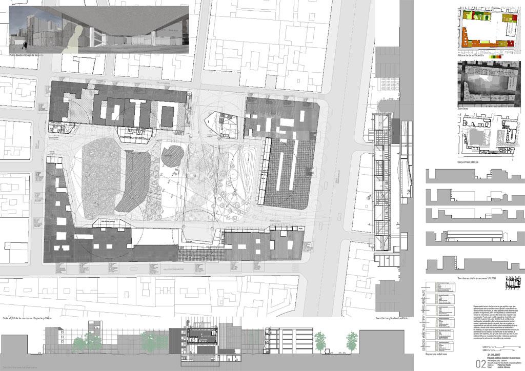 Pfc prm 2006 2007 4cm for Laminas arquitectura