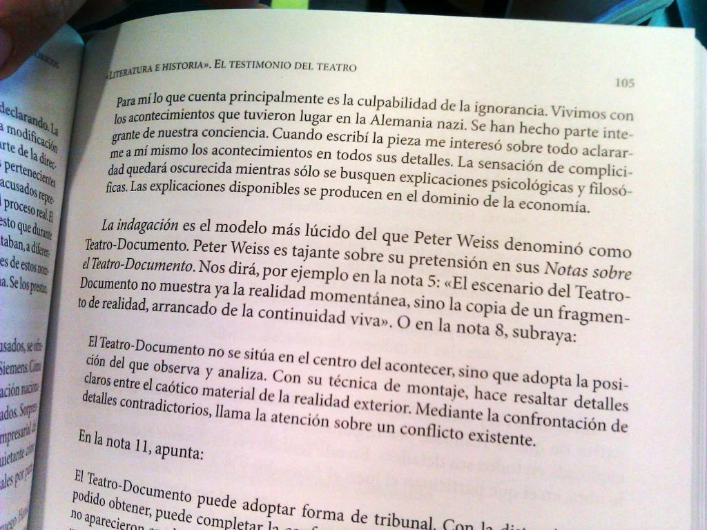 """Ignacio Amestoy. Extracto del texto """"Literatura e historia"""". El testimonio del teatro."""